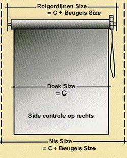 hoe te rolgordijnen meten nederlandse instructie gids